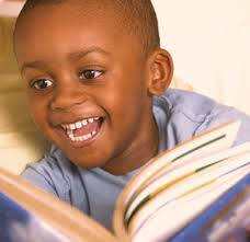 happy boy-reading