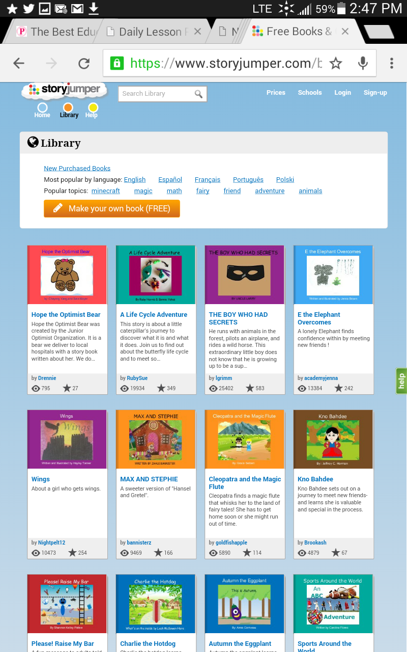 Free and Fun Elementary Reading Websites for Kids