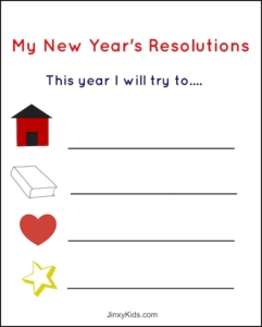 writing New Years Resolutions